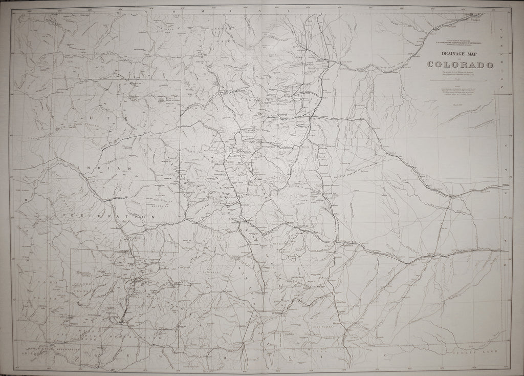 F.V. Hayden, Drainage Map of Colorado