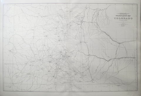 F.V. Hayden, Triangulation Map of Colorado by J.T. Gardner and A.D. Wilson