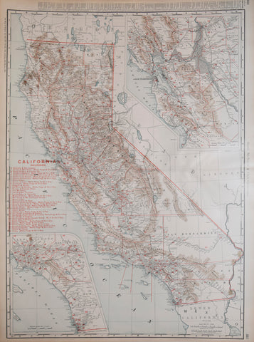 Rand McNally & Co., California, [with two inset Maps]