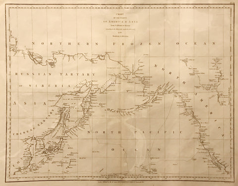 G. G. & J. Robinson, Chart of the Coasts of America & Asia from California to Macao
