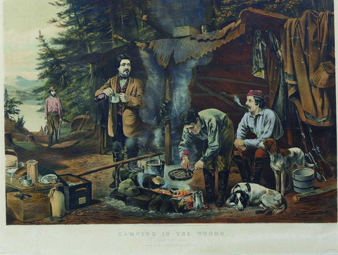 Nathaniel Currier (1813-1888) & James Ives (1824-1895), Camping in the Woods, a Good Time Coming