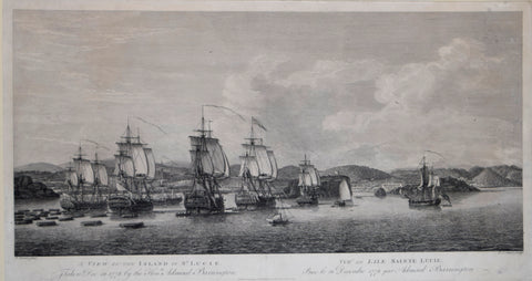 Pierre Charles Canot (1710-177), A View of the Island of St. Lucie. Taken Dec. 31 1778 by the Honourable Admiral Barrington