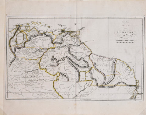 Matthew Carey (1760-1839), A Map of Caracas