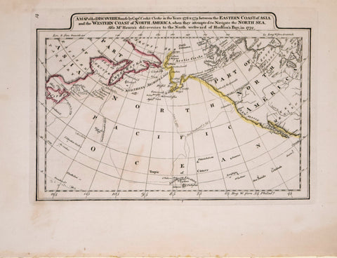 Matthew Carey (1760-1839), A Map of the Discoveries by Capts. Cook & Clerke in the Years 1778 & 1779 Between the Eastern Coast of Asia and the Western Coast of North America…