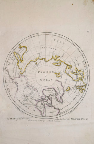 Matthew Carey (1760-1839), Map of the Countries situate about the North Pole