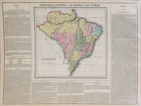 Henry C. Carey (1793-1879) & Isaac Lea (1792-1886), Geographical, Statistical and Historical Map of Brazil No. 48