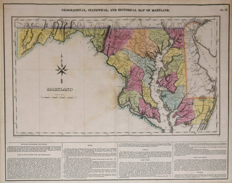 Henry Charles Carey (1793-1879) and Isaac Lea (1792-1886), Geographical, Statistical and Historical Map of Maryland