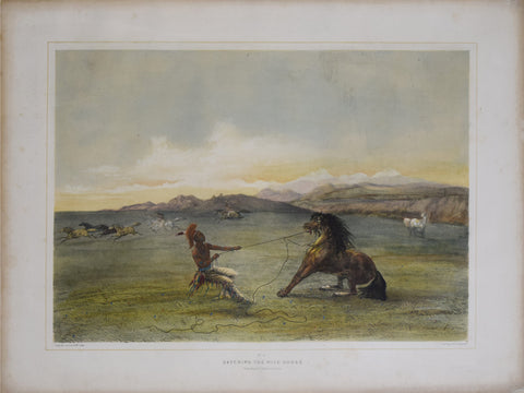 George Catlin (1796-1872), Catching the Wild Horse