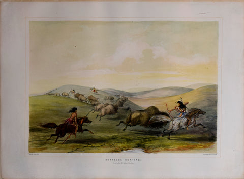 George Catlin (1796-1872), Buffaloe Hunting