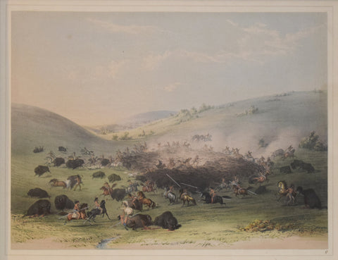 George Catlin (1796-1872), Buffalo Hunt, Surround