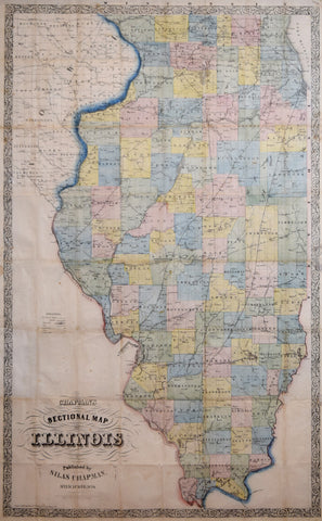 Silas Chapman (1813-1899), Chapman's Sectional Map of Illinois