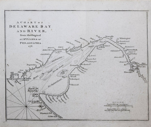 Joshua Fisher (1707-1783), A Chart of Delaware Bay and River