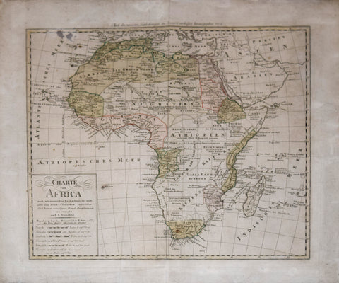 Franz Ludwig Gussefeld (1744-1807), after Sayer, Rennel and Arrowsmith, Charte von Africa…