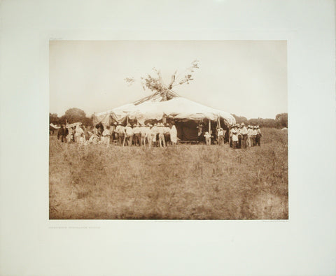 Edward S. Curtis  (1868-1952), Cheyenne Sun-Dance Lodge, Pl. 660