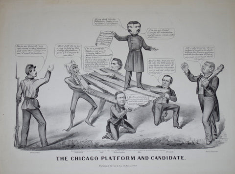 Nathaniel Currier (1813-1888) & James Ives (1824-1895), Chicago Platform and Candidate: A War Candidate on the Peace Platform