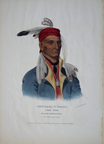 Thomas McKenney (1785-1859) & James Hall (1793-1868), Chippeway Chief, Shin-Ga-Ba-W-Ossin