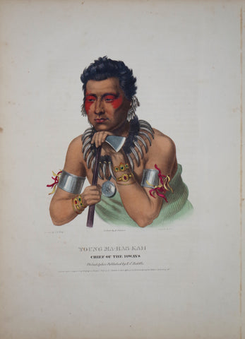 Thomas McKenney (1785-1859) & James Hall (1793-1868), Chief of the Ioaways, Young-Ma-Has-Kah