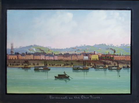 Nicolino Vicompte Calyo (1799-1884), Cincinnati on the Ohio River