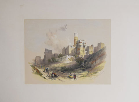 David Roberts (1796-1864), Citadel of Jerusalem without the Walls