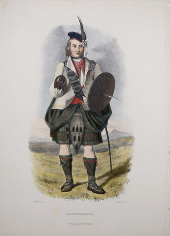 Robert Ronald McIan (1803-1856), Clanranald