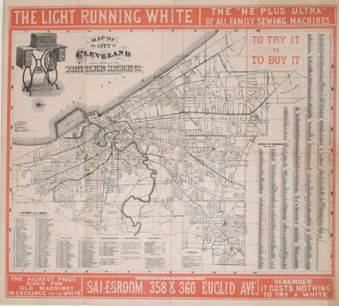 W.J. Morgan & Co., Map of the City of Cleveland Compliments of the White Sewing Machine Co.