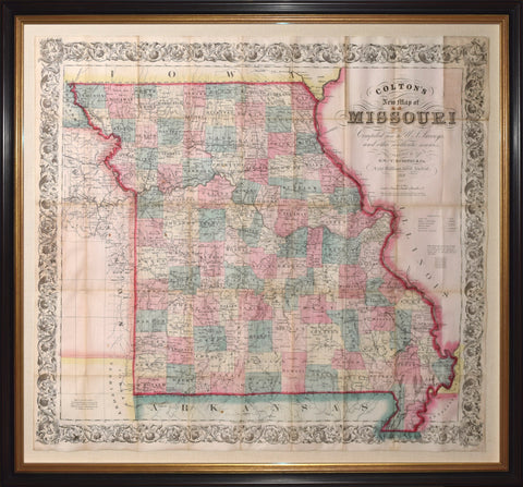 George Woolworth (1827-1901) and Charles B. Colton (1831-1916), Colton's New Map of Missouri