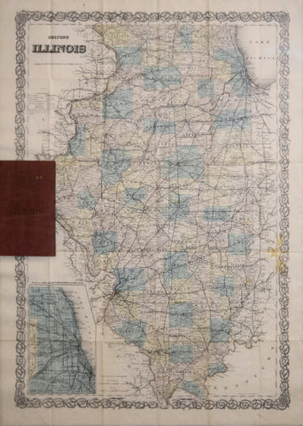 Joseph H. Colton (1800-1893), Colton's Map of Illinois