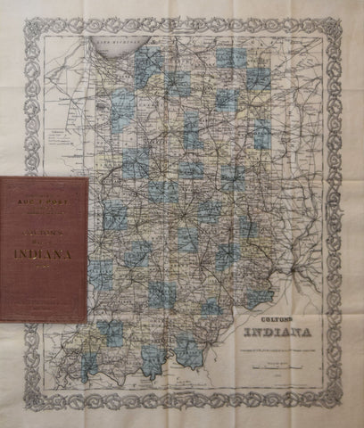 G.Woolworth Colton, Colton's Map of Indiana