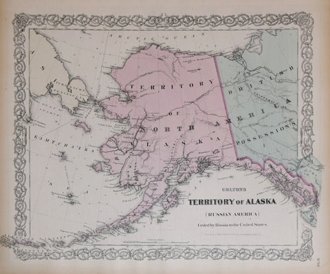 George W. Colton (1827-1901) and C.B. Colton, Colton's Territory of Alaska (Ceded by Russia to the United States)