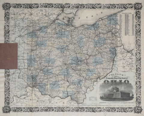 George Woolworth Colton (1827-1901), Colton's Railroad and Township Map of the State of Ohio