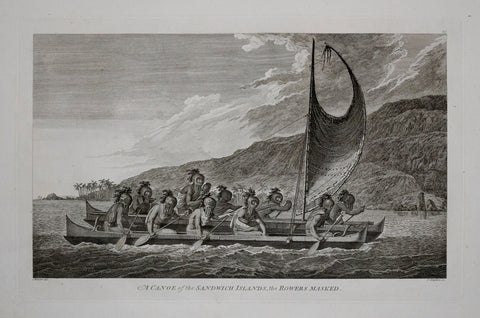 Captain James Cook (1728-1729) and John Webber (1751-1793), A Canoe of the Sandwich Islands, the Rowers Masked