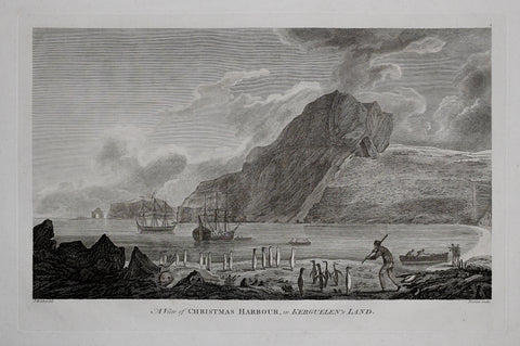 Captain James Cook (1728-1729) and John Webber (1751-1793) , A View of Christmas Harbour in Kerguelens Land