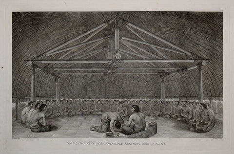 Captain James Cook (1728-1729) and John Webber (1751-1793), Poulaho, King of the Friendly Islands drinking Kava