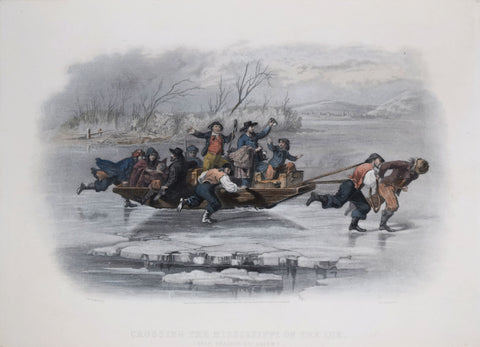 William Momberger after, Crossing the Ice on the Mississippi (Near Prairie du Chien)