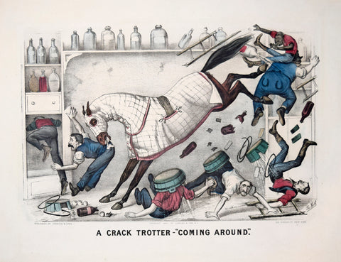 "Nathaniel Currier (1813-1888) & James Ives (1824-1895), A Crack Trotter-""Coming Around"""