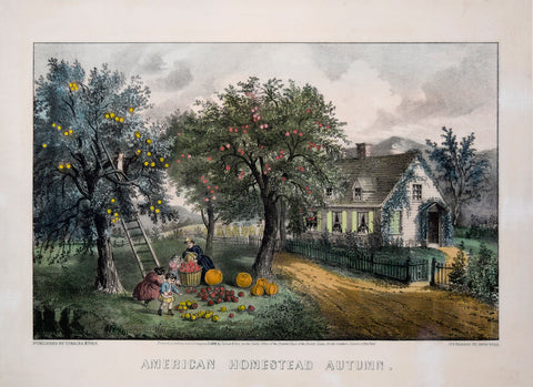 Nathaniel Currier (1813-1888) & James Ives (1824-1895), American Homestead Autumn