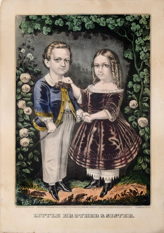 Nathaniel Currier (1813-1888) & James Ives (1824-1895), Little Brother and Sister