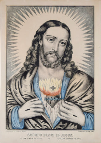 Nathaniel Currier (1813-1888) & James Ives (1824-1895), Sacred Heart of Jesus