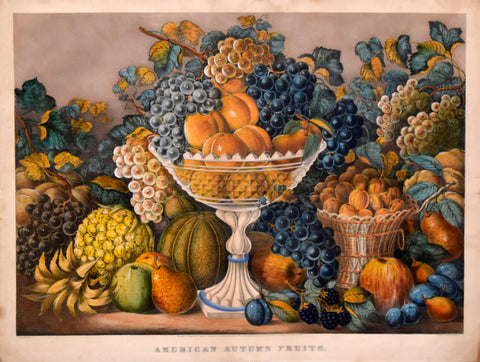Nathaniel Currier (1813-1888) & James Ives (1824-1895), American Autumn Fruits
