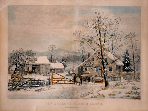 Nathaniel Currier (1813-1888) & James Ives (1824-1895), New England Winter Scene