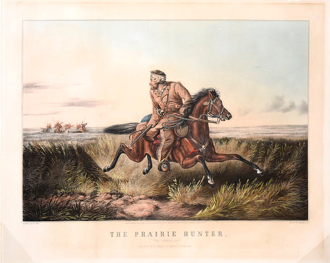 "Nathaniel Currier (1813-1888) & James Ives (1824-1895), The Prairie Hunter ""One Rubbed Out"""