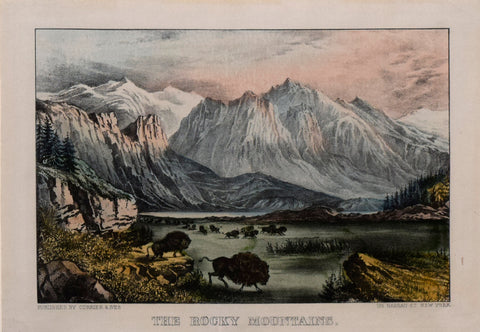 Nathaniel Currier (1813-1888) & James Ives (1824-1895), The Rocky Mountains
