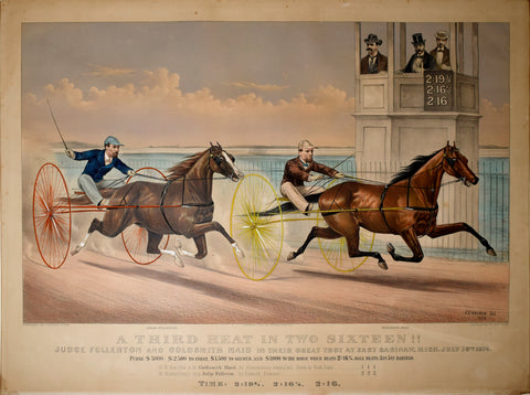 Nathaniel Currier (1813-1888) & James Ives (1824-1895), A Third Heat in Two Sixteen!!