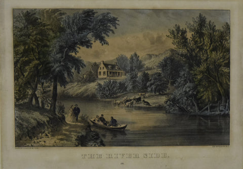 Nathaniel Currier (1813–1888) and James Merritt Ives (1824–1895), The River Side