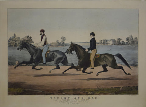 Nathaniel Currier (1813-1888), After Louis Maurer (1832-1932), Tacony and Mac, Hunting Park Course Phila.  June 2nd 1853