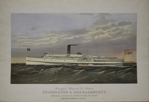 Endicott & Co., Stonington Steamboat Co's Steamers, Stonington & Narragansett, New York & Boston Via Stonington & Providence