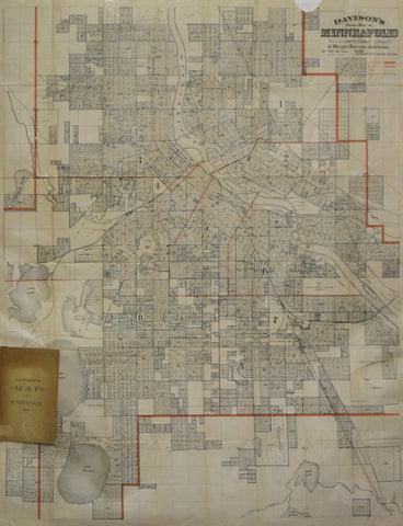 C. Wright Davison, Davison's Pocket Map of Minneapolis…