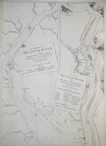 Joseph Frederick Wallet Des Barres (1722--1824), A Chart of the Delaware River from Bombay Hook to Ridley Creek...