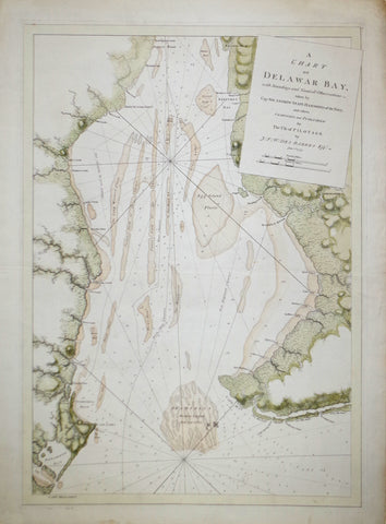 Joseph Frederick Wallet Des Barres (1722-1824), A Chart of Delaware Bay with Soundings and Nautical Observations...