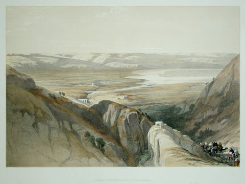 David Roberts (1796-1864), Descent Upon the Valley of the Jordan
